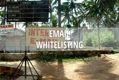 Email whitelisting