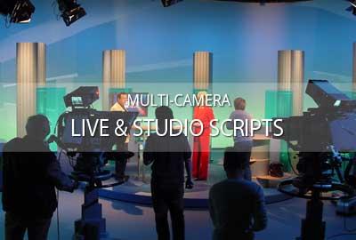 Working with multi-camera live & studio scripts