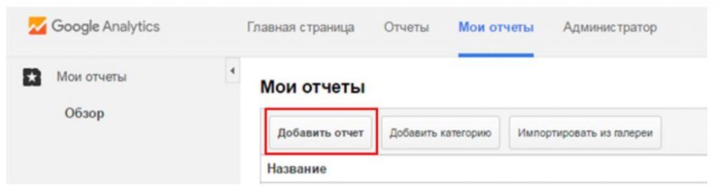 Персонализированные отчеты в Google Analytics