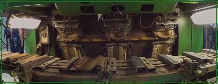 Экструдер для производства плитки и черепицы