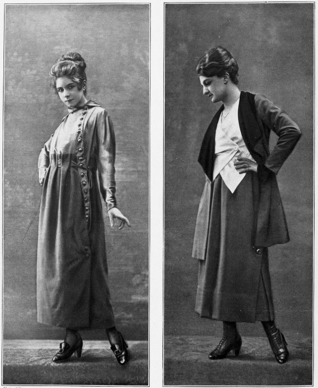 These ladies, 1917 fashion models, had questionable frocks, but some seriously shiny hair (the temptation to use the word locks was strong there...). No shampoo was the norm then!