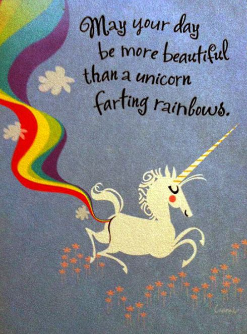 In your anxiety lifehack unicorns really can fart rainbows. Really.  Awesome image from puppylover4002.wordpress.com