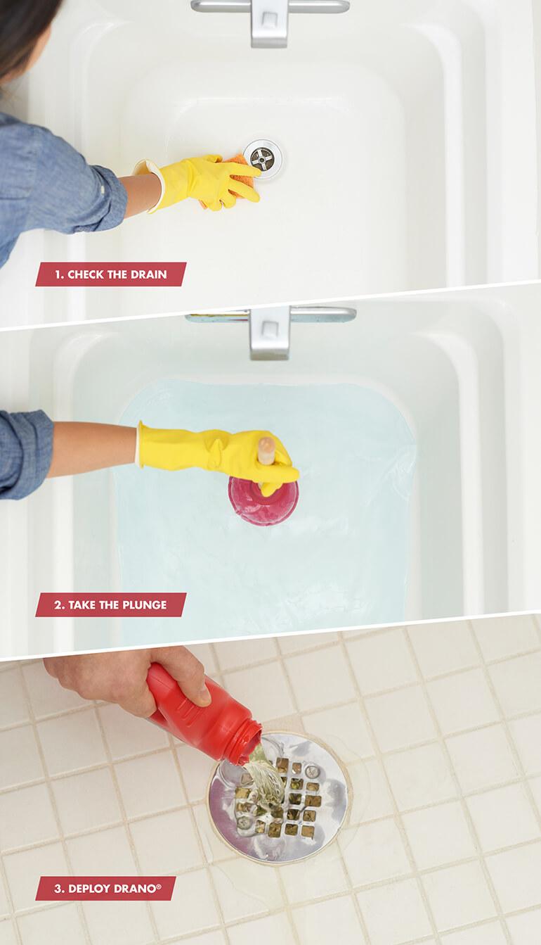 shower clog in 3 simple steps