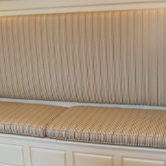 Custom Kitchen Booth Skinny Island Drapery Decor I Worked With A Carpenter That Built This Bench Storage To Make Complete Like Feel For The Clients Dining Area