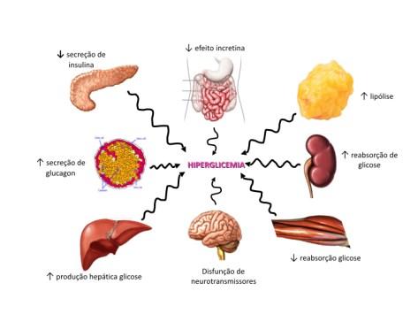 Octeto de DeFronzo: os oito defeitos que contribuem para o diabetes tipo 2