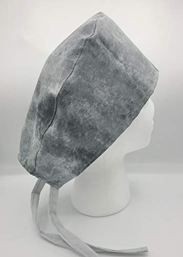 Gray Marble Surgical Scrub Cap Medical Hat Hospital Cowl