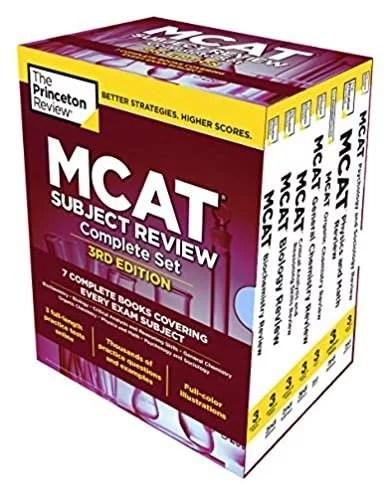 The Princeton Evaluation MCAT Topic Evaluation Full Field Set, third Version: 7 Full Books + 3 On-line Apply Checks (Graduate College Check Preparation)