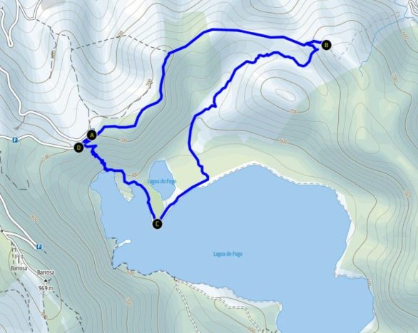 Wanderung zum Lago do Fogo Karte