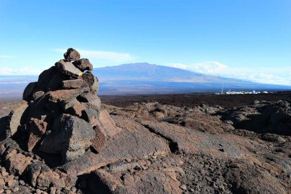 Blick zurück zum Mauna Kea
