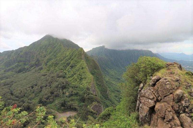 Hier sieht man noch den Pali Lookout