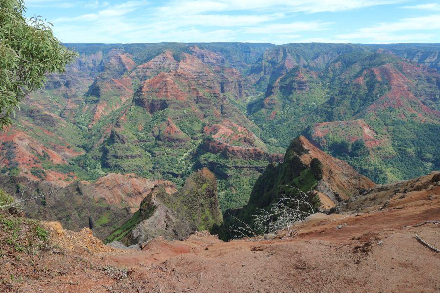 Wanderung in den Waimea Canyon auf Kauai, Hawaii