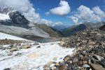 Gletscher und Felsen auf dem Weg zum Monte Cevedale
