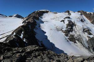 Blick auf den Aufstieg über den Suldenferner.