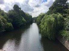 Der Eilbekkanal in Hamburg Eilbek