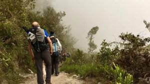 Wandern auf dem Inka-Trail in Peru