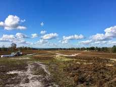 Blick auf den Segelflugplatz in der Fischbeker Heide