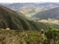 Blick vom Wanderweg im Naturschutzgebiet Iguaque
