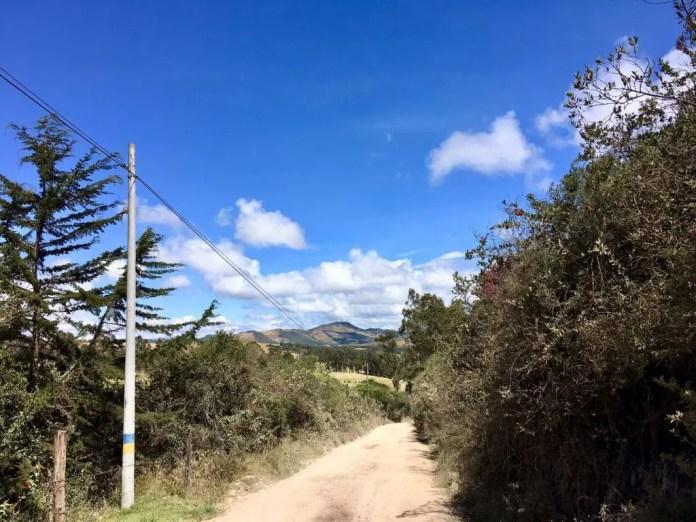 Mountainbiken in Kolumbien - Auf der Abfahrt bis El Crucero