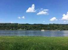 Das Hochufer an der Elbe zwischen Geesthacht und Lauenburg