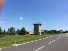 Ehemaliger Grenz-Wachturm in Neu Bleckede an der Elbe