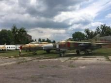 Alte sowjetische MIGs im Technikmuseum Hugo Junkers in Dessau
