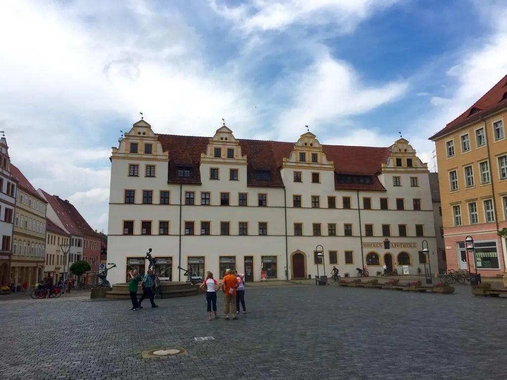 Auf dem Marktplatz von Torgau