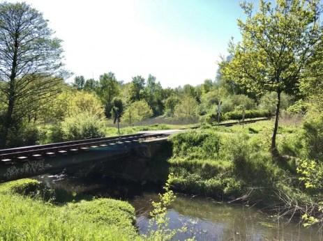Kleine Eisenbahnbrücke an der Glinder Au