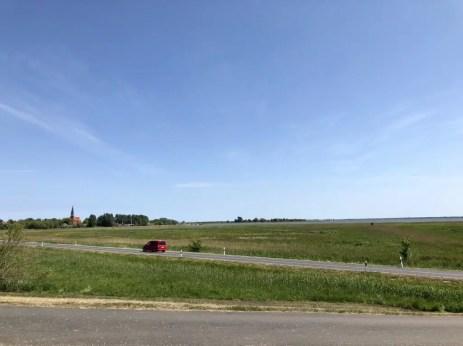 Landschaftspanorama bei Wustrow auf dem Darß
