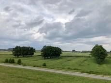 Blick vom Elbdeich kurz vor Wedel