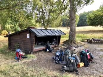Der Lagerplatz Häckeberga auf dem Skåneleden Wanderweg