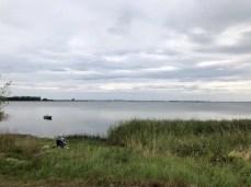 Blick über die ruhige Wismarer Bucht von Hoben aus