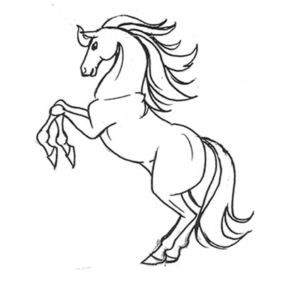 كيف ترسم الحصان