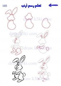 كيفية رسم أرنب