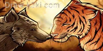 بالفيديو: تعلم رسم نمر وذئب