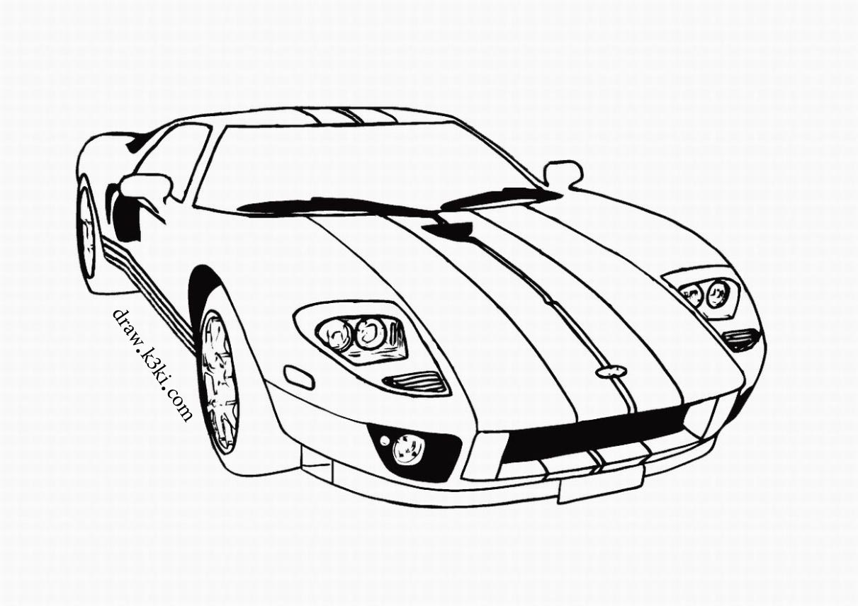 Cars Print Coloring Pages