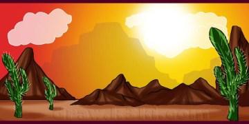 تعلم الرسم - تعلم رسم صحراء