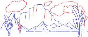 تعلم الرسم خطوة بخطوة - تعلم رسم صحراء