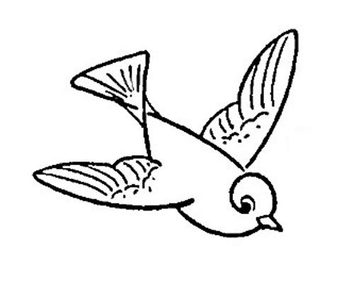 Cartoon Bird In Flight