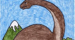 تعلم رسم ديناصور