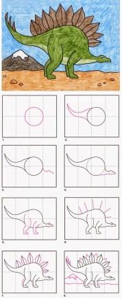 تعلم رسم ديناصور بقلم الرصاص