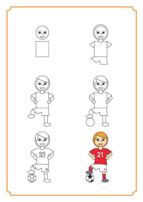 تعلم رسم لاعب كرة قدم