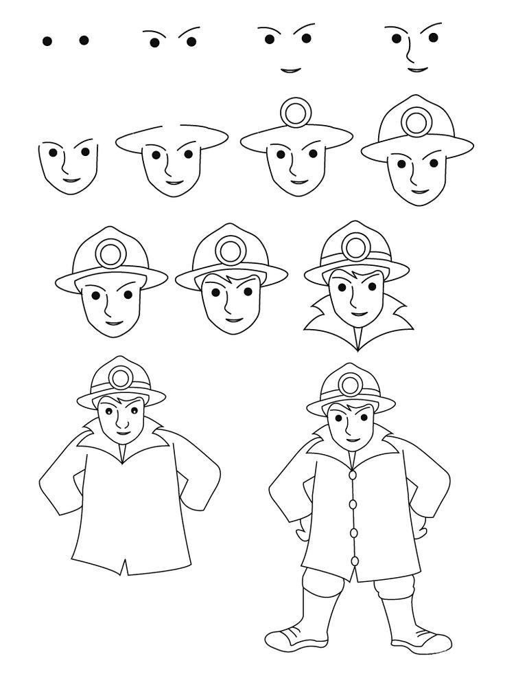 تعلم رسم رجل إطفاء