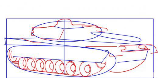 رسم دبابة من خلال 6 خطوات