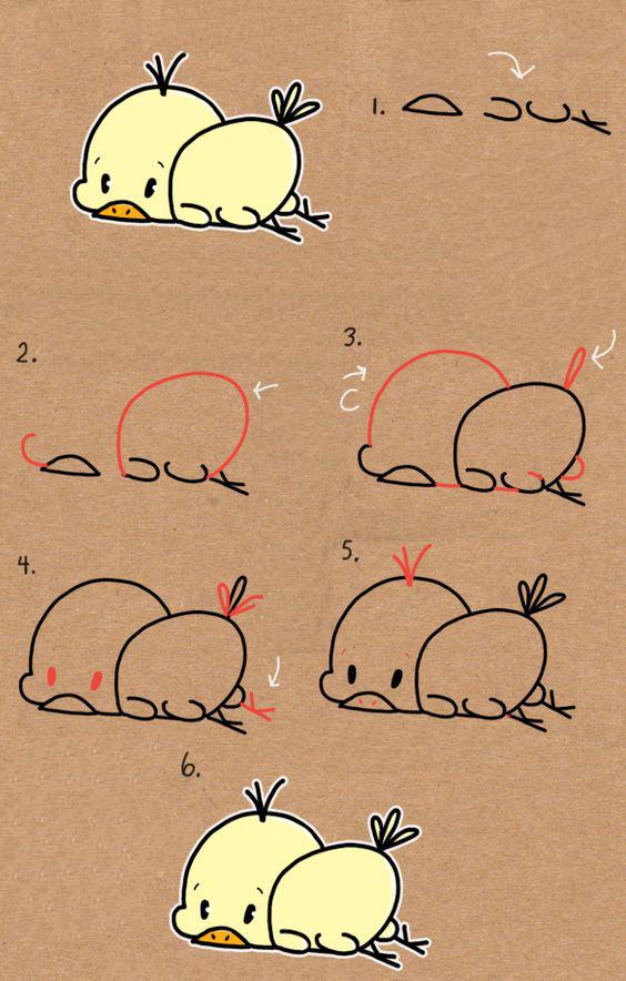 تعلم رسم بطة من كلمة Duck