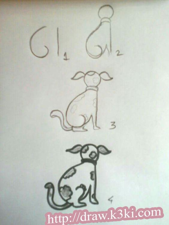 تعليم الطفل الصغير رسم كلب