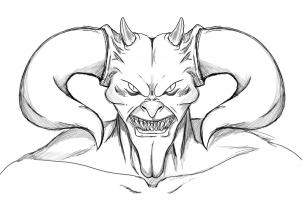 كيف أرسم الشيطان