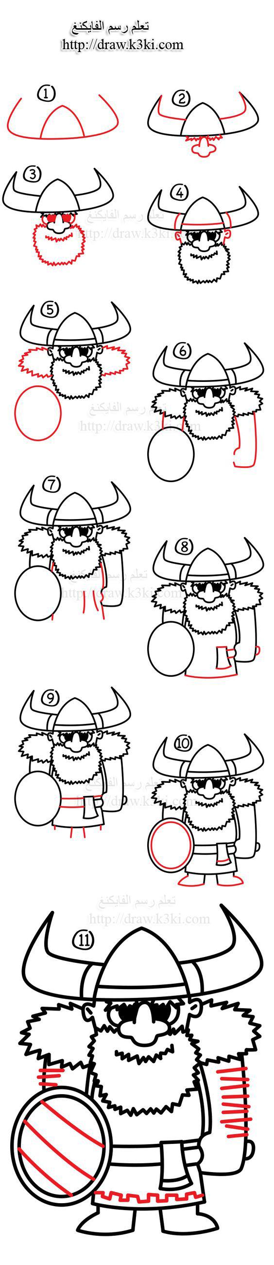 تعلم رسم الفايكنغ