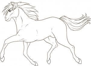 رسم حصان وهو يركض