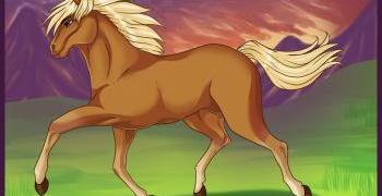 رسم حصان يركض