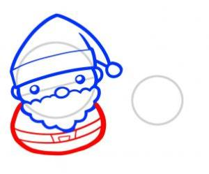 رسم بابا نويل مع غزاله